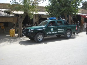 ANP vehicle - out and about in Maimaneh, Faryab province