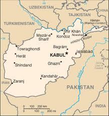Afghan map outline