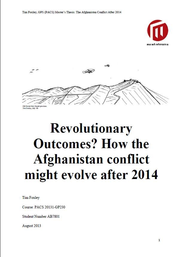 Phd thesis afghanistan