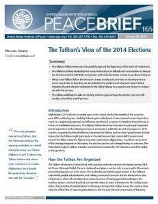 Semple paper, Taliban elections
