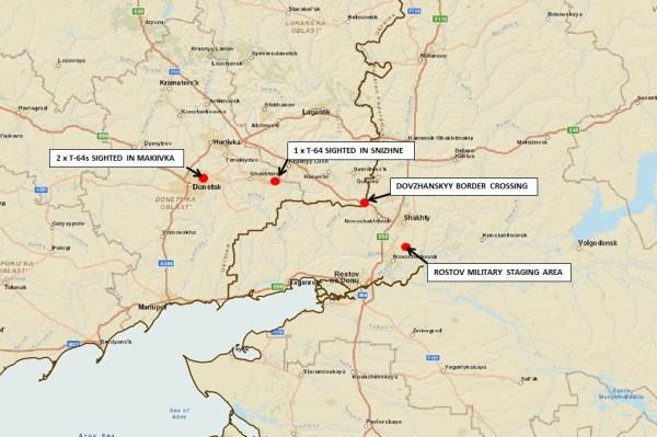 20140616, Ukraine Map, MBT movements