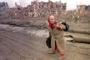 grozny, woman refugee