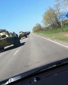 Russian armour on motorwaycrop crop