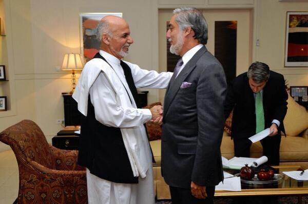 Abdullah and Ghani, all smiles