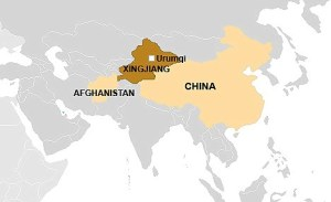 China, Afghanistan and troublesome Xinjiang province...