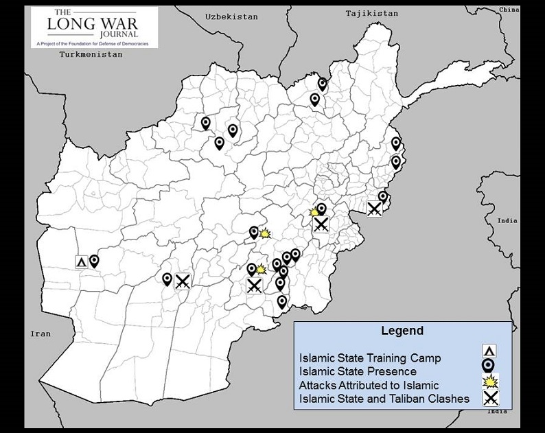 ISIS In Afghanistan Afghanhindsight - Isis Training Camps In Us Map