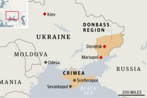 Ukr, Map Donbas mariupol
