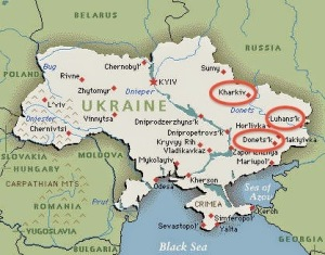 ukraine map unrest