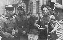 Waffen SS and Cossacks in Warsaw 1944