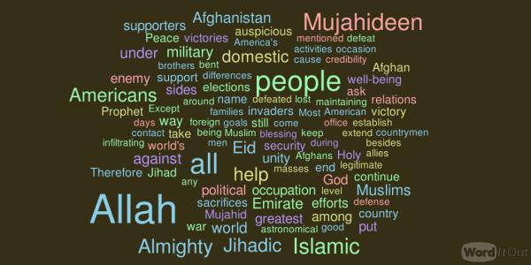 Eid address attributed to Mullah Omar, October 2014