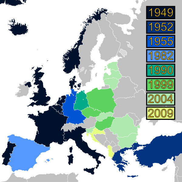 NATO expansion through the ages