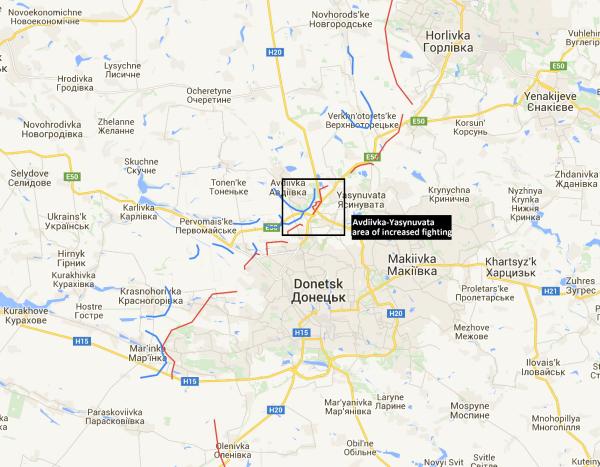 Ukraine, Donetsk front lines