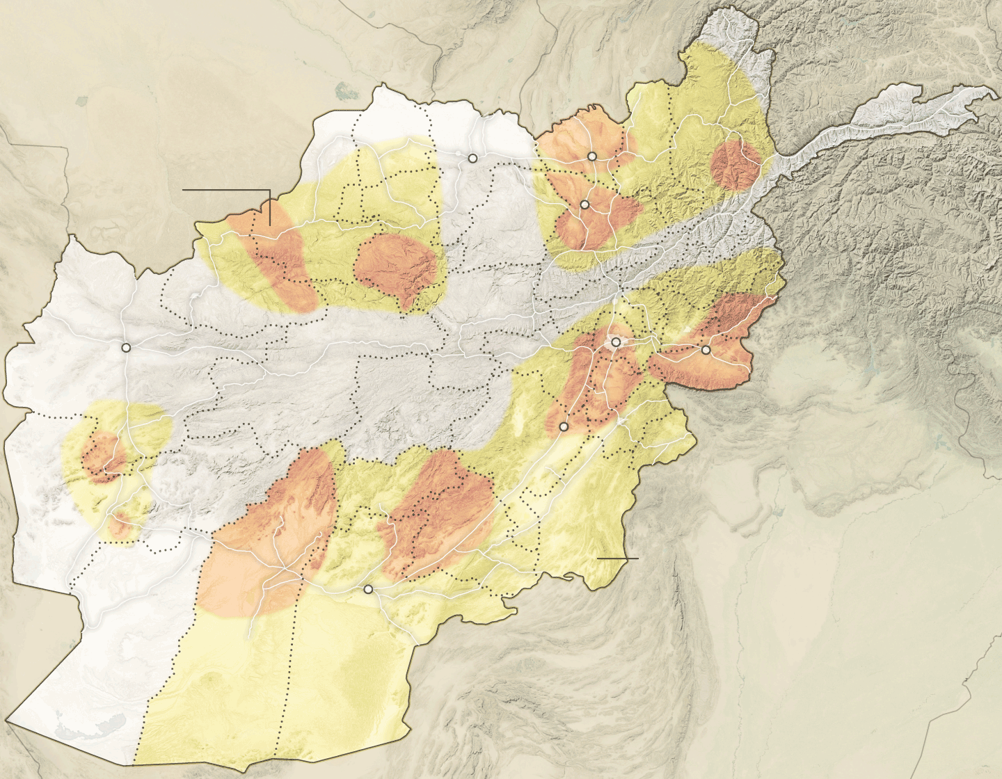 Controltalibanmapartboardpng - Afghanistan taliban dostums massouds map
